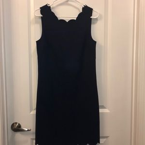 Scalloped navy J.Crew dress